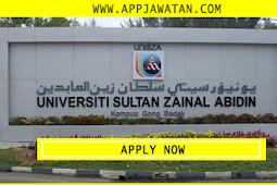 Jawatan Kosong di Universiti Sultan Zainal Abidin (UniSZA).