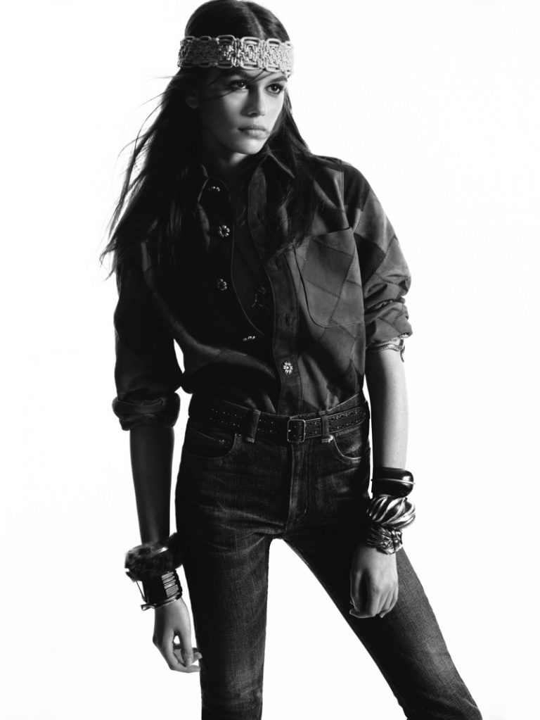 Saint Laurent taps Kaia Gerber for fall 2018 campaign