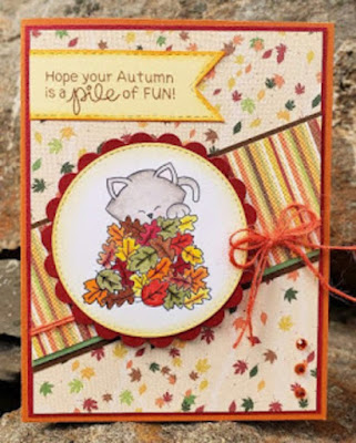 Hope your autumn is a pile of fun by Janice features Autumn Newton by Newton's Nook Designs; #newtonsnook