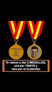 Pedro Sánchez dos medallas