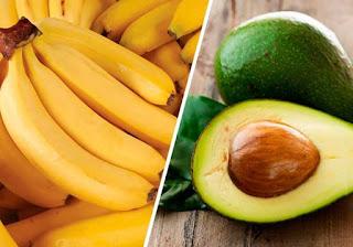 Estudo revela que banana e abacate previnem enfarte e AVC