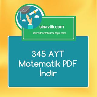345 Ayt Matematik pdf indir