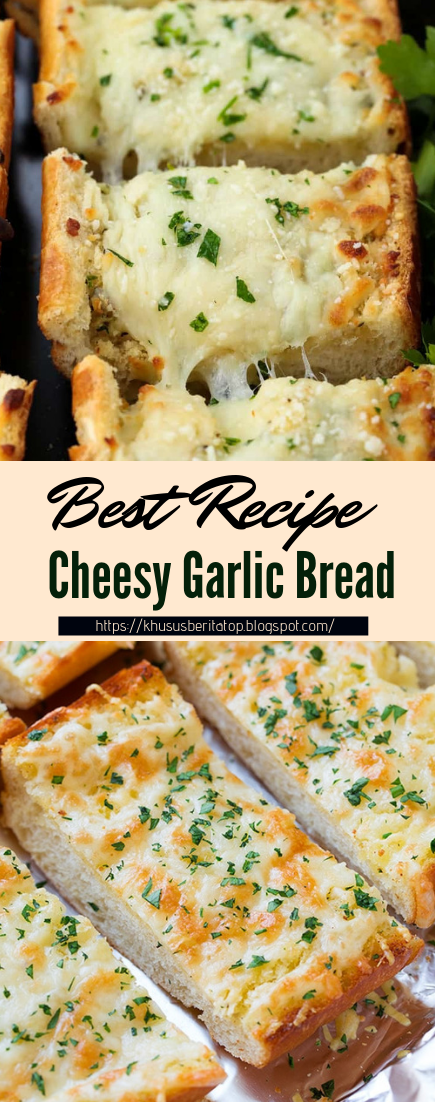 Cheesy Garlic Bread #healthyfood #dietketo #breakfast #food