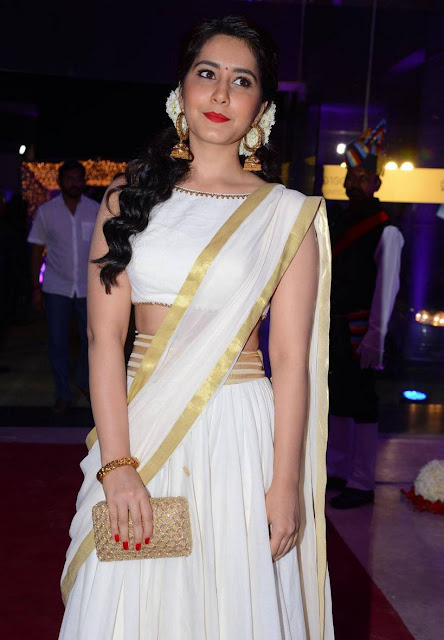 Raashi Khanna in Off White Traditional Lehenga by Shilpa Reddy