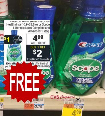 free scope mouthwash cvs coupon deal 12-19-12-4