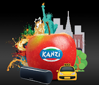 Logo Kanzi Apple : vinci viaggio a New York e altoparlanti bluetooth Sony