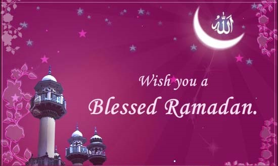 Have a blessed Ramadan Kareem