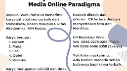 Ayo Jadi Kontributor Media Online Paradigma