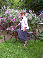 St Joan on a bike