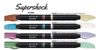 Supershock Matitone Ombretto Avon. Guarda il Catalogo Avon Online della Campagna in corso e scopri come ordinare i prodotti Avon. Presentatrice Avon. Opinioni, Recensioni, Tutorial e Review sui prodotti Avon.