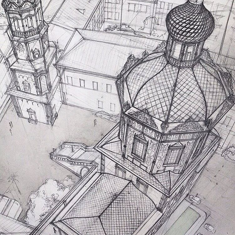 03-Cathedral-of-St-Peter-and-Paul-in-Kazan-Adelina-Gareeva-Detailed-Architectural-Recreations-and-Concept-Drawings-www-designstack-co