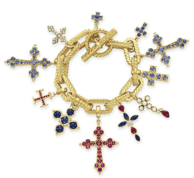 Cross Charm Bracelet: The Charming Elizabeth Taylor