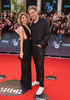 Sarah Hyland in racy black gown with beau Dominic Sherwood at Much Music Awards 2015
