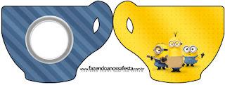 Tarjeta con forma de taza de Película de los Minions
