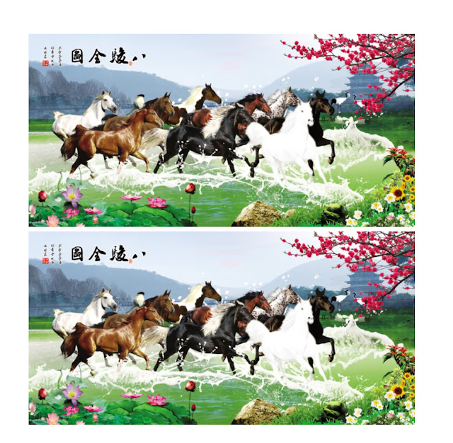Vector Tranh Ngựa Mã Đáo Thành Công