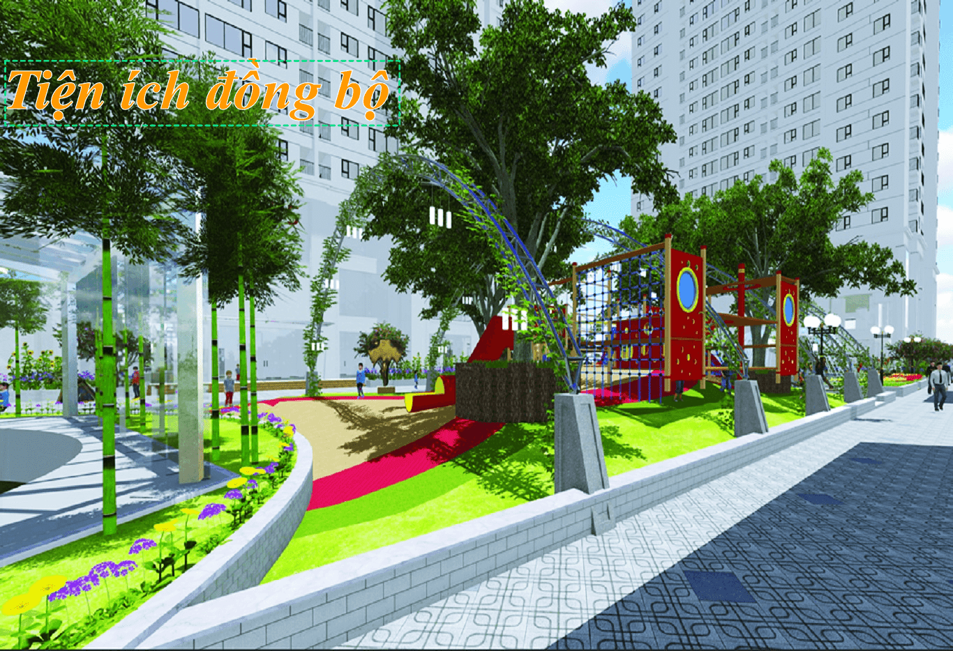 Cảnh quan xung quanh của dự án Rose Town Ngọc Hồi