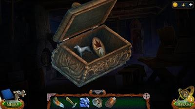 в шкатулке фигурка собаки и деталь в игре затерянные земли 4 скиталец