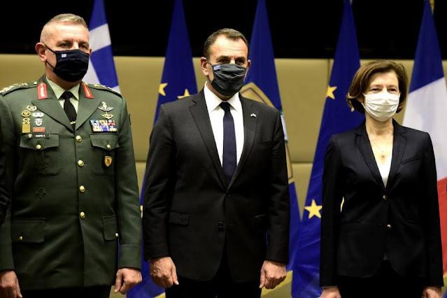 """Παρουσία ΥΕΘΑ Νικόλαου Παναγιωτόπουλου και ΥΠΑΜ Γαλλίας Φλώρανς Παρλύ στην Υπογραφή της Συμφωνίας Προμήθειας Μαχητικών Α/Φ """"RAFALE"""""""