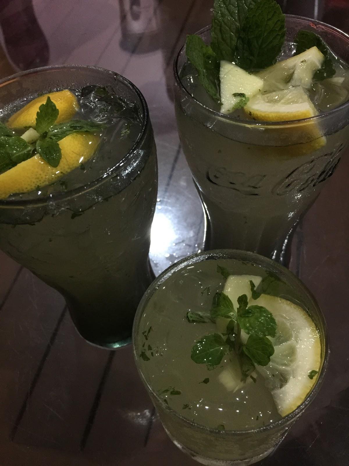 penghilang dahaga, lemon ice, pudina lemon ais