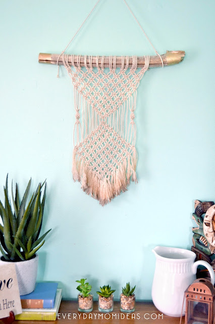 Gold Tipped Macrame Wall Hanging (DIY For Beginers)
