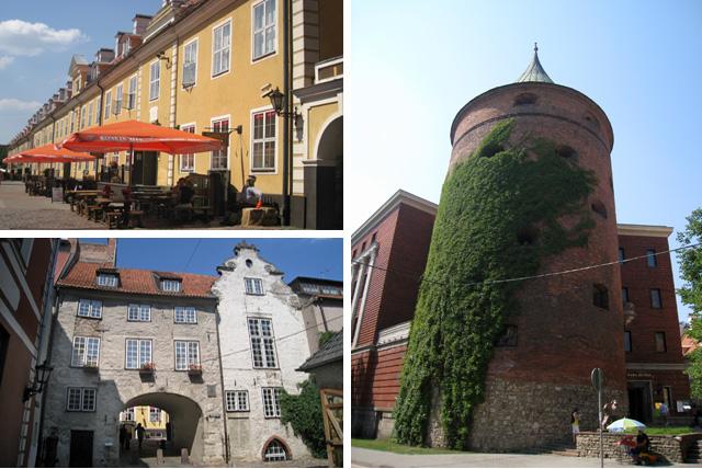 Muestras de la época medieval en Riga