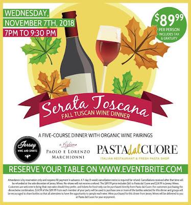 Serata Toscana at Pasta Dal Cuore