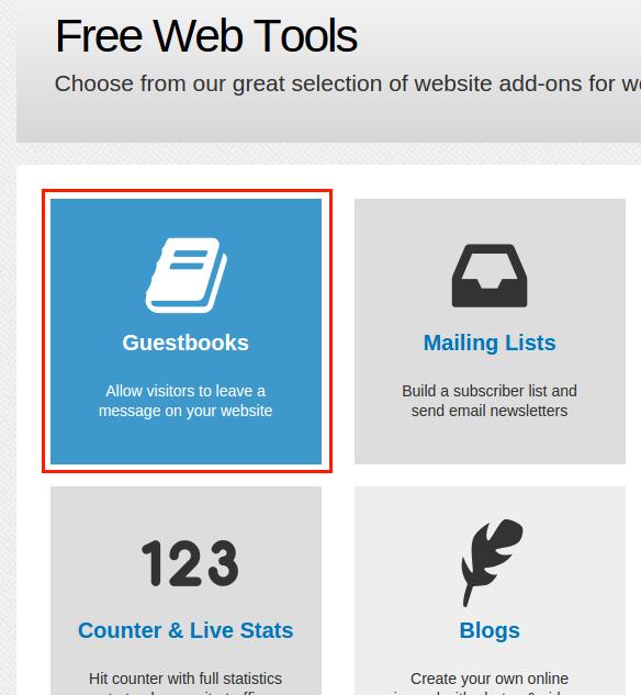 Bravenet Guestbook을 이용하여 Blogger 방명록 추가 방법 2. Guestbook 접근