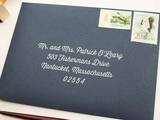 wedding envelope address printing