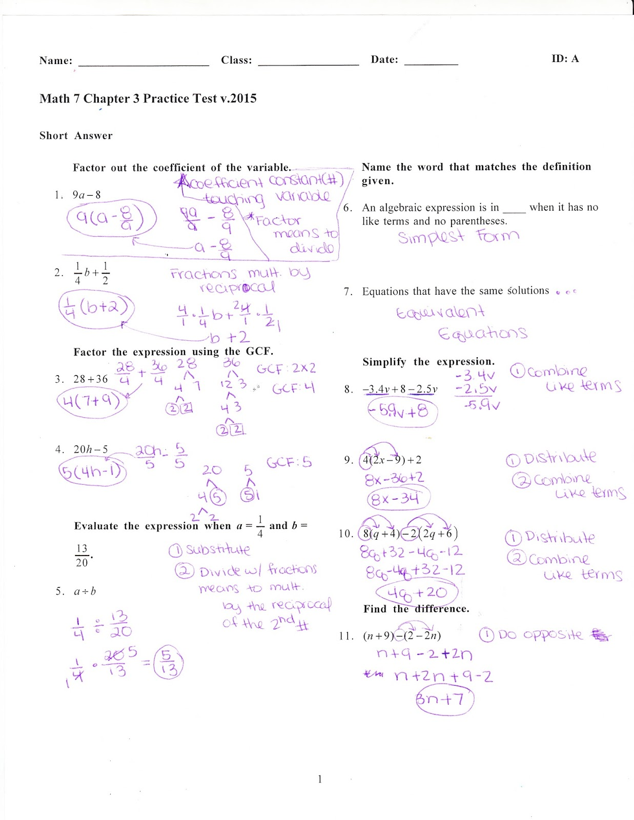 Ms Jean S Classroom Blog Math 7 Chapter 3 Practice Test Answers