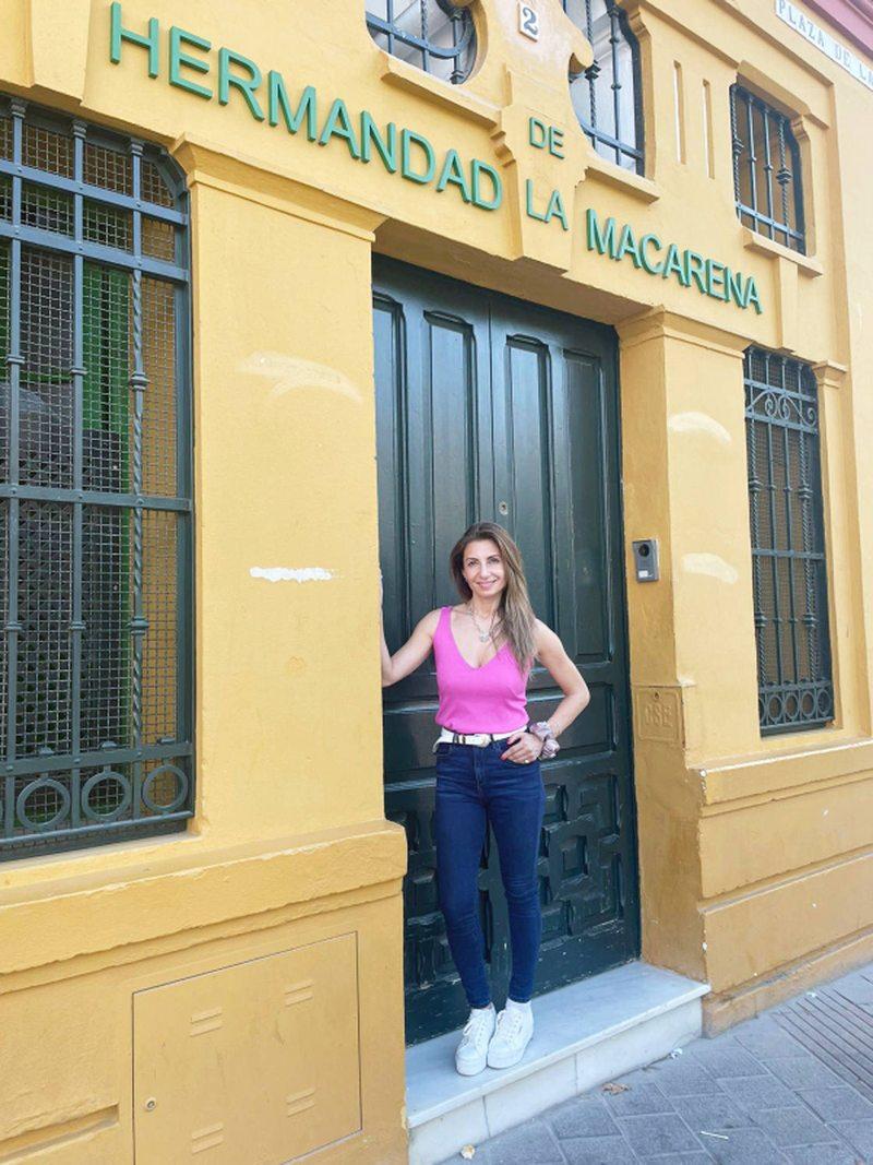 Maca Venegas se autoregaló viaje cultural por Andalucía