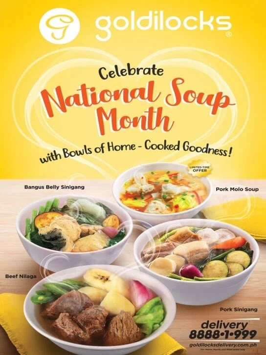 Goldilocks Celebrates National Soup Month with Bowls of Home-Cooked Goodness