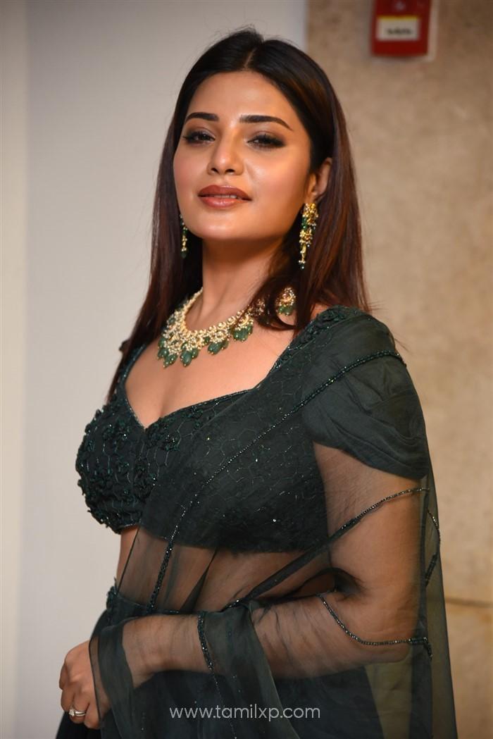 Aathmika Green Dress Stills