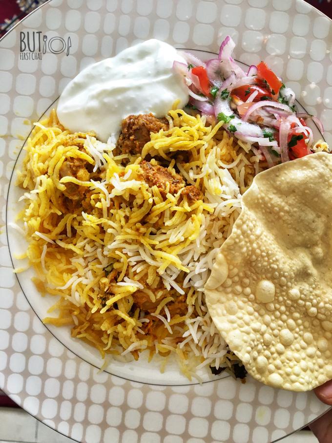 Kacchi Mutton Biryani step by step Pics