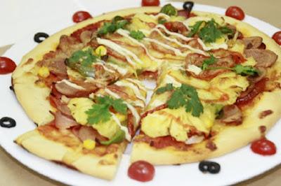 Hương vị hấp dẫn của chiếc bánh pizza Hawaii