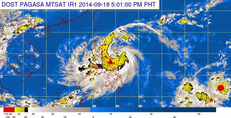 Typhoon Mario PAGASA Update September 18, 2014