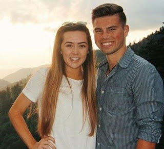 Trace Bates with his ex-girlfriend Chaney