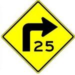 advisory turn speed in spanish