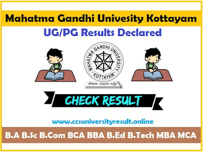 MGU Degree Results 2019