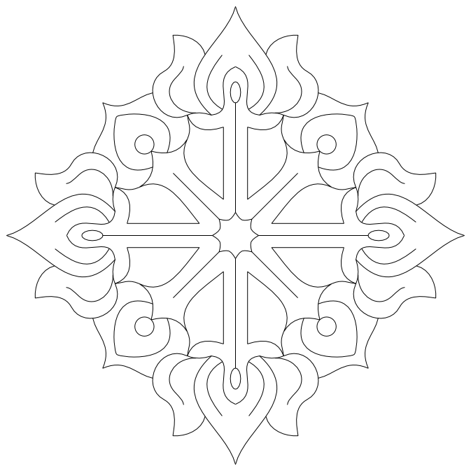 Imaginesque: Free-hand Embroidery Motif Pattern