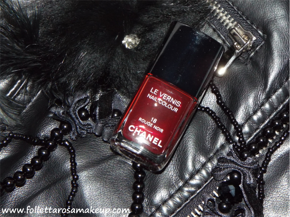 smalto chanel rouge noir
