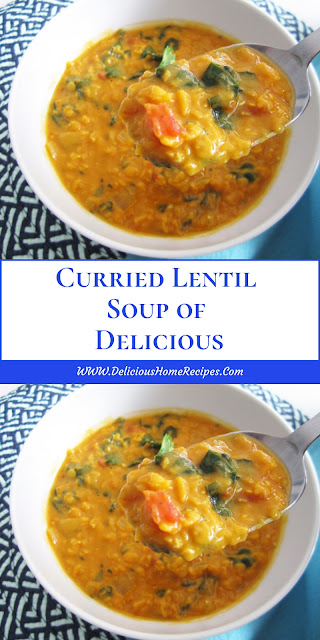 Curried Lentil Soup of Delicious