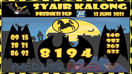 Syair Kalong SGP Sabtu 12-Jun-2021