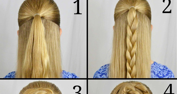Braided Rose Bun Hairstyle Tutorial Style Hunt World