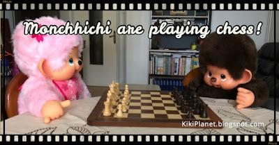 kiki Monchhichi échecs chess game jeu mat