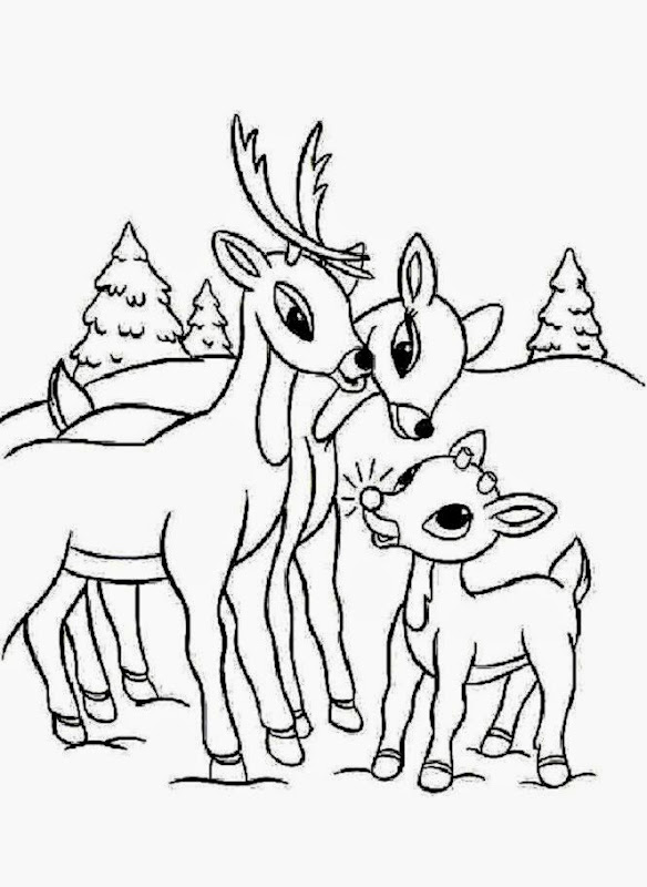 SANTA39S REINDEER coloring pages   Rudolph39s family