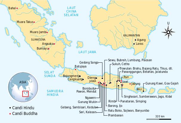 Persebaran candi Hindu dan Buddha di Indonesia