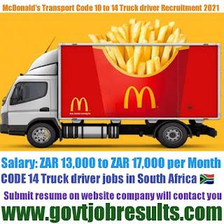 MacDonald Transport CODE 14 Truck Driver Recruitment 2021-22
