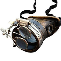 Steampunk accessories for men and women. cyclops eyepatch Welding Monocle with Clear Lens and Magnifiers