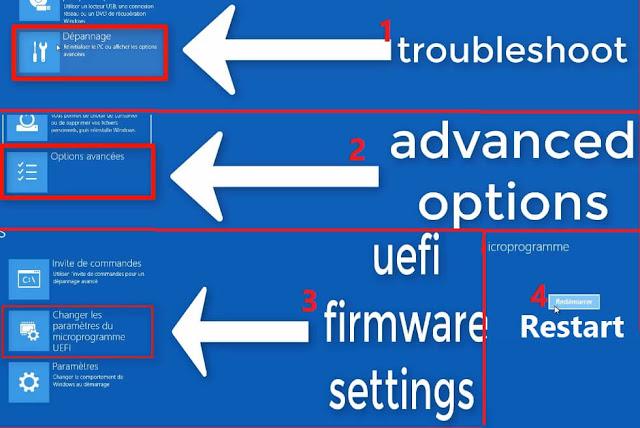 كيفية الإقلاع من UEFI