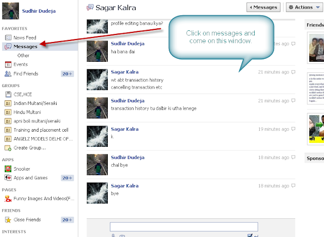 how to delete messages on facebook page